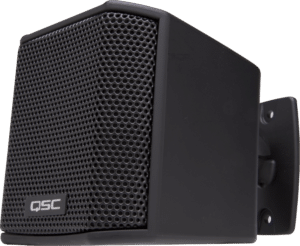 QSC AcousticDesign Series AD-S.SAT satellite loudspeaker with wall mount