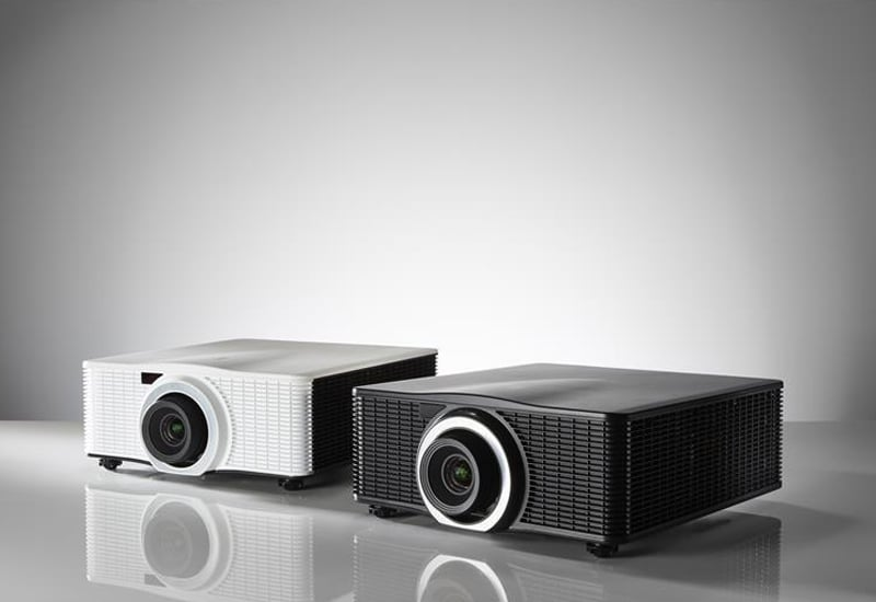 white and black Barco G60 projectors perfect for conference rooms