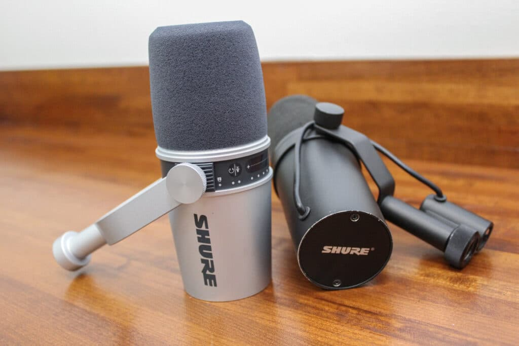 shure mv7 and the shure sm7b are great mics