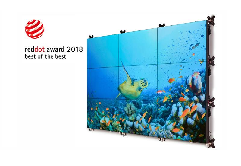 Barco Unisee wall Best of the Best Red dot award 2018
