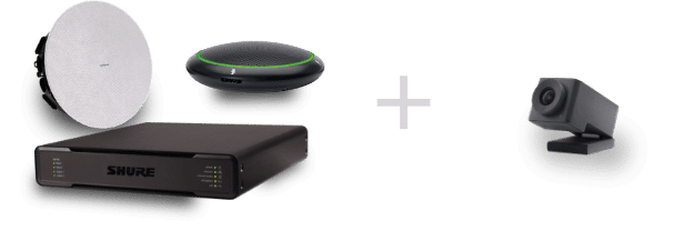 Shure audio ecosystem and the Huddly IQ camera