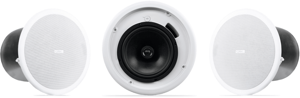 QSC AcousticDesign series loudspeakers white ceiling mount